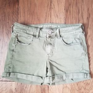 American Eagle Green shorts